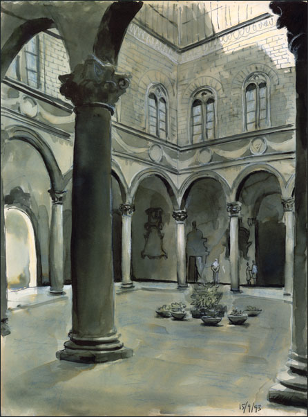 palazzo medici essays Palazzo medici-riccardi) at florence by michelozzo, a follower of brunelleschicreated for cosimo de' medici, a great political leader and art patron of florence, the palace was arranged around a central court, the traditional florentine palace plan.
